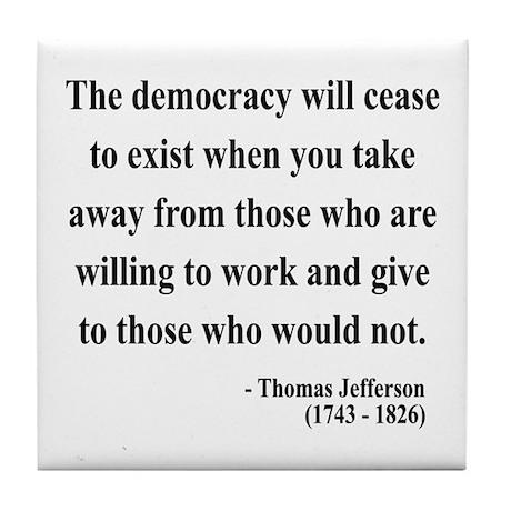 Thomas Jefferson 3 Tile Coaster