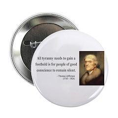 """Thomas Jefferson 4 2.25"""" Button"""
