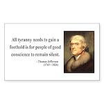 Thomas Jefferson 4 Rectangle Sticker