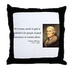 Thomas Jefferson 4 Throw Pillow
