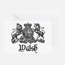 Walsh Vintage Crest Last Name Greeting Card