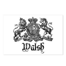 Walsh Vintage Crest Last Name Postcards (Package o