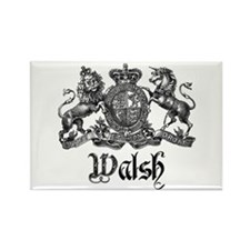 Walsh Vintage Crest Last Name Rectangle Magnet