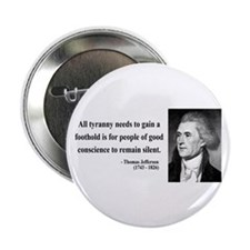 "Thomas Jefferson 4 2.25"" Button (10 pack)"