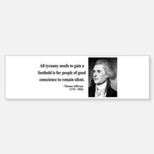 Thomas Jefferson 4 Bumper Car Car Sticker
