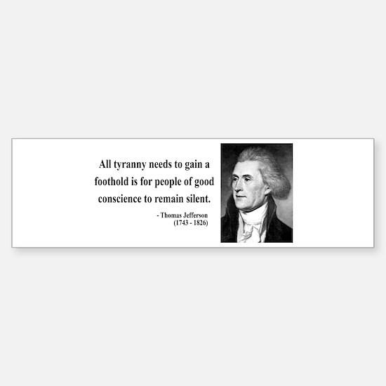 Thomas Jefferson 4 Bumper Car Car Sticker