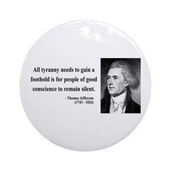 Thomas Jefferson 4 Ornament (Round)