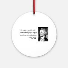 Thomas Jefferson 4 Ornament (Round)