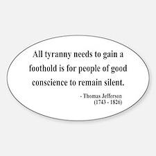 Thomas Jefferson 4 Oval Stickers