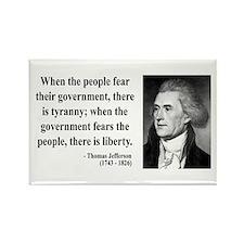 Thomas Jefferson 6 Rectangle Magnet