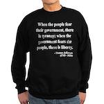 Thomas Jefferson 6 Sweatshirt (dark)