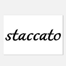 Staccato Music Postcards (Package of 8)