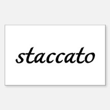 Staccato Music Rectangle Decal