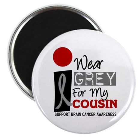 "I Wear Grey For My Cousin 9 2.25"" Magnet (10 pack)"