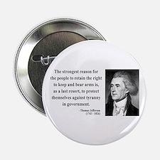 """Thomas Jefferson 7 2.25"""" Button"""