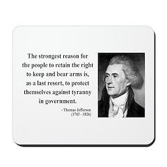 Thomas Jefferson 7 Mousepad
