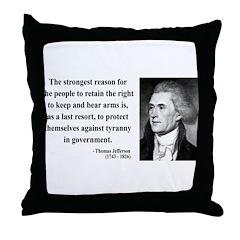 Thomas Jefferson 7 Throw Pillow