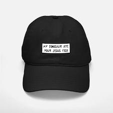 Dinosaur Eats Jesus Fish Baseball Hat