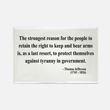 Thomas Jefferson 7 Rectangle Magnet