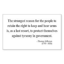 Thomas Jefferson 7 Rectangle Decal