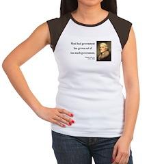 Thomas Jefferson 8 Women's Cap Sleeve T-Shirt