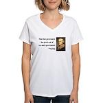 Thomas Jefferson 8 Women's V-Neck T-Shirt