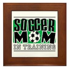 Soccer Mom In Training Framed Tile