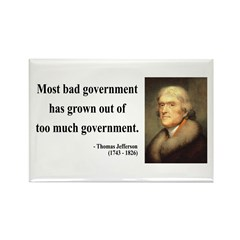 Thomas Jefferson 8 Rectangle Magnet