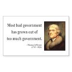 Thomas Jefferson 8 Rectangle Sticker