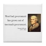 Thomas Jefferson 8 Tile Coaster
