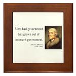 Thomas Jefferson 8 Framed Tile