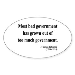 Thomas Jefferson 8 Oval Decal