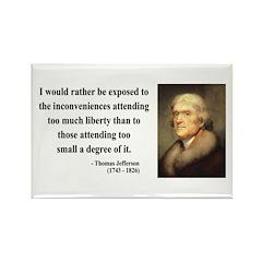 Thomas Jefferson 11 Rectangle Magnet (10 pack)