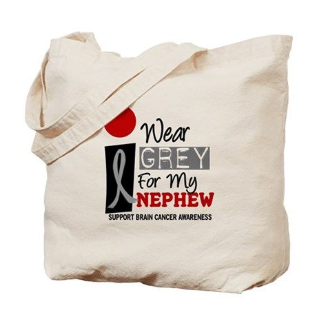 I Wear Grey For My Nephew 9 Tote Bag
