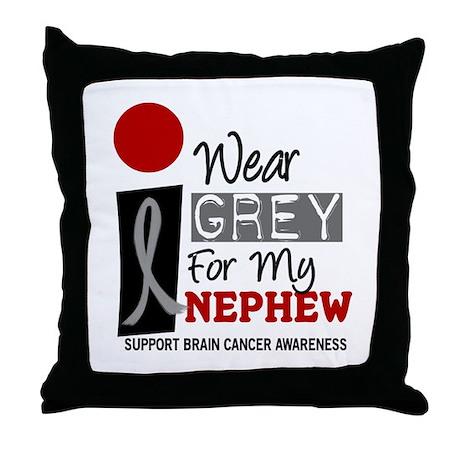 I Wear Grey For My Nephew 9 Throw Pillow