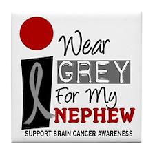 I Wear Grey For My Nephew 9 Tile Coaster