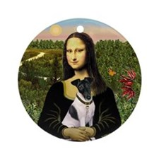 Mona Lisa & Her Fox Terrier Ornament (Round)
