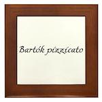 Bartok pizzicato Framed Tile