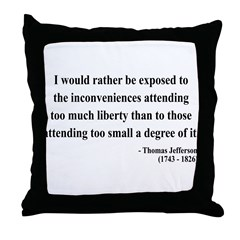 Thomas Jefferson 11 Throw Pillow