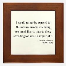 Thomas Jefferson 11 Framed Tile