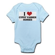 I Love Gypsy Vanner Horses Infant Creeper