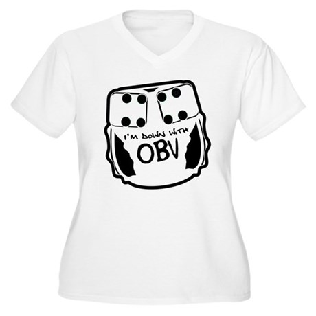 Down With OBV Women's Plus Size V-Neck T-Shirt
