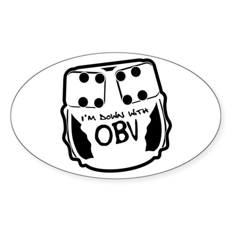 Down With OBV Oval Sticker