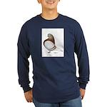Domestic Flight Mealy Long Sleeve Dark T-Shirt
