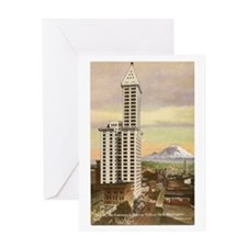 Vintage Seattle Smith Tower Greeting Card