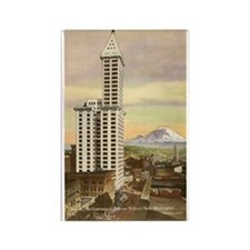 Vintage Seattle Smith Tower Rectangle Magnet
