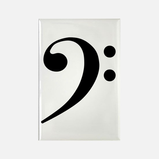 Bass Clef Rectangle Magnet