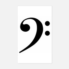 Bass Clef Rectangle Decal