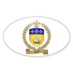 LIZOT Acadian Crest Oval Decal