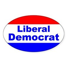 Liberal Democrat Oval Decal